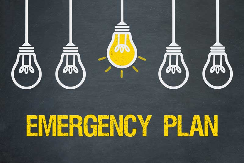 Small Business Emergency Plan Light Bulb Graphic