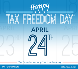 Tax Freedom Day is April 24